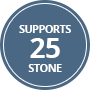 Supports 25 Stone